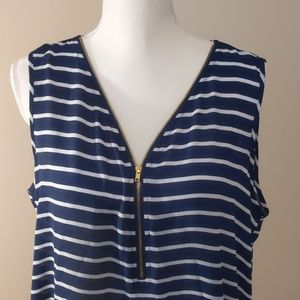 Navy and white striped too from New Directions XL